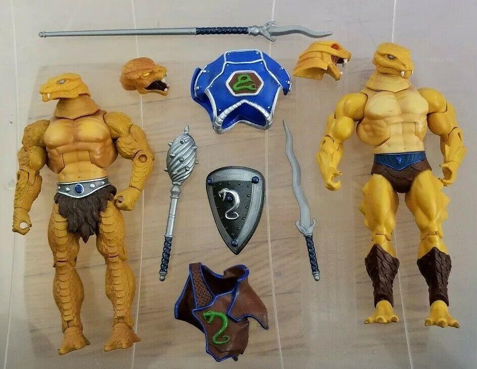 MOTUC, Snake Men Men Men figure, Masters of the Universe Classics, guard complete loose 520b65