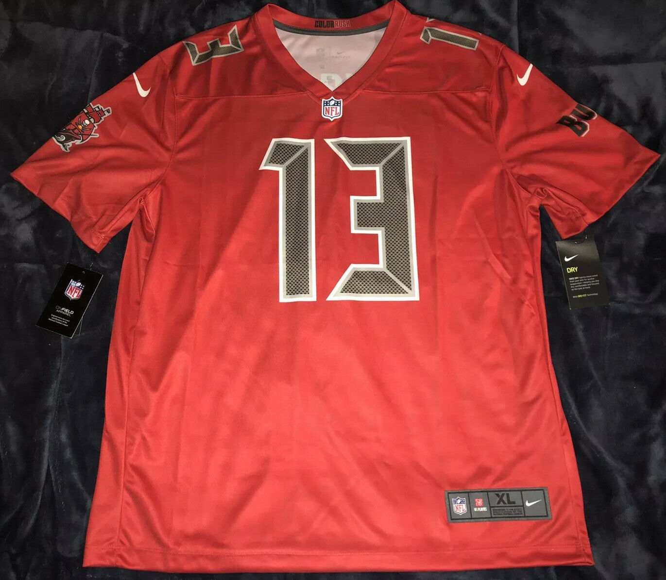Mike Evans Tampa Bay Buccaneers Red Color Rush Legend Jersey Rare Xl Ebay