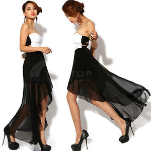 Sexy-Women-Asymmetric-Strapless-Chiffon-Dress-Cocktail-Party-Evening-Dress-Skirt