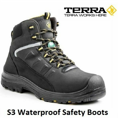 NEW MENS S3 COMPOSITE TOE CAP SAFETY MIDSOLE SAFETY WORK WATERPROOF BOOTS SHOES