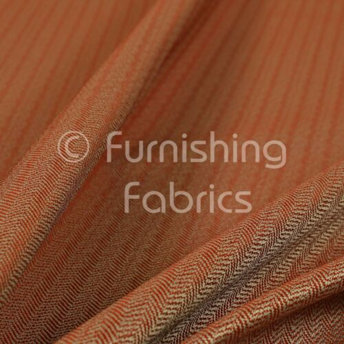 Herringbone Pattern Semi Plain Medium Weight Upholstery Fabric In New Red Colour