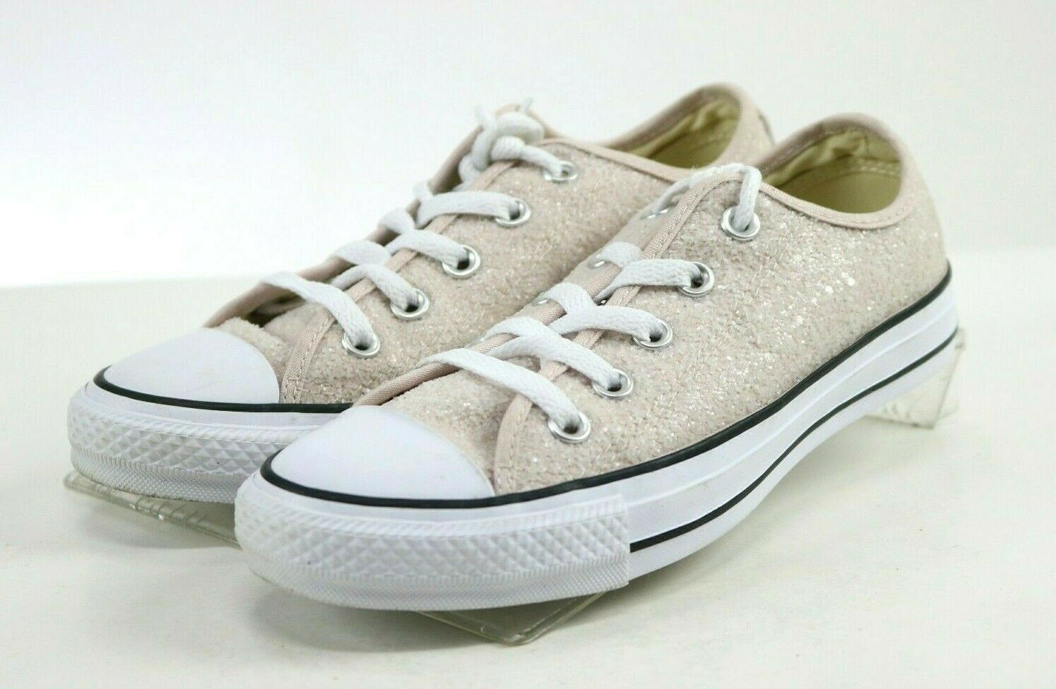 Converse CT All Star Women's Low Top Sneakers Shoes Size 6 Glittered Pink