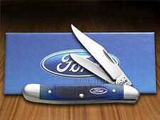 CASE XX Ford Motor Company Blue Bone Medium Jack Stainless Pocket Knives Knife