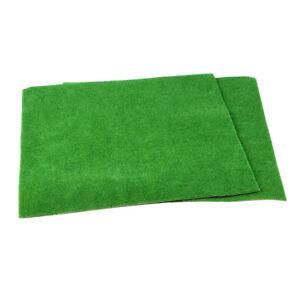 5-Stueck-Kunstrasen-Gras-Rasen-Wiese-Modell-Miniatur-dunkelgruen