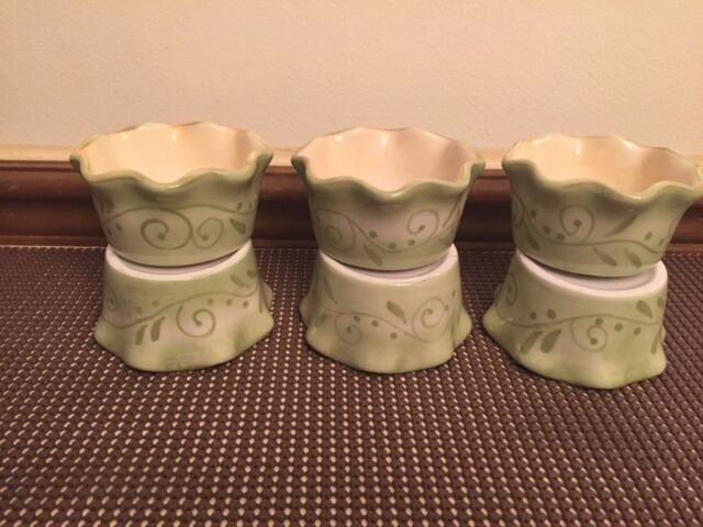 "Tracy Porter ""EVELYN"" Design #5288 ~ Set of 6 ~ Ramekins ~ Vines~ 3 1/2"""