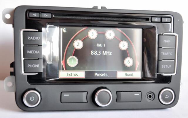 VW Volkswagen Rns315 RNS 315 Navigation System Bluetooth DAB Radio  3c0035279s