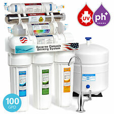 Express Water 11-Stage Reverse Osmosis Filtration System UV Ultraviolet Alkaline