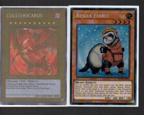 Rescue Ferret MP18-EN054 NEW Yugioh Card Secret Rare Holo