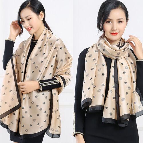 Women Scarf Lady Silk Imitation Scarves Soft Shawl Luxury Pashmina Splen EG/_ HK