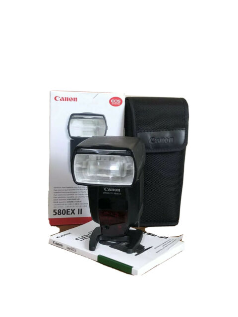 Canon Speedlite 580EX II Flash for  Canon, Soft Case and Mini Stand- Used