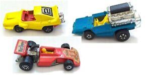 Lot-3-Matchbox-Racers-Tyre-Fryer-42-Formula-5000-Marlboro-38-Woosh-N-Push-42