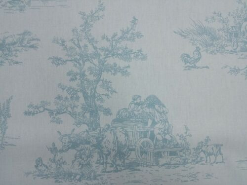 Fryetts Toile Provence Eggshell Curtain Craft Designer Upholstery Fabric