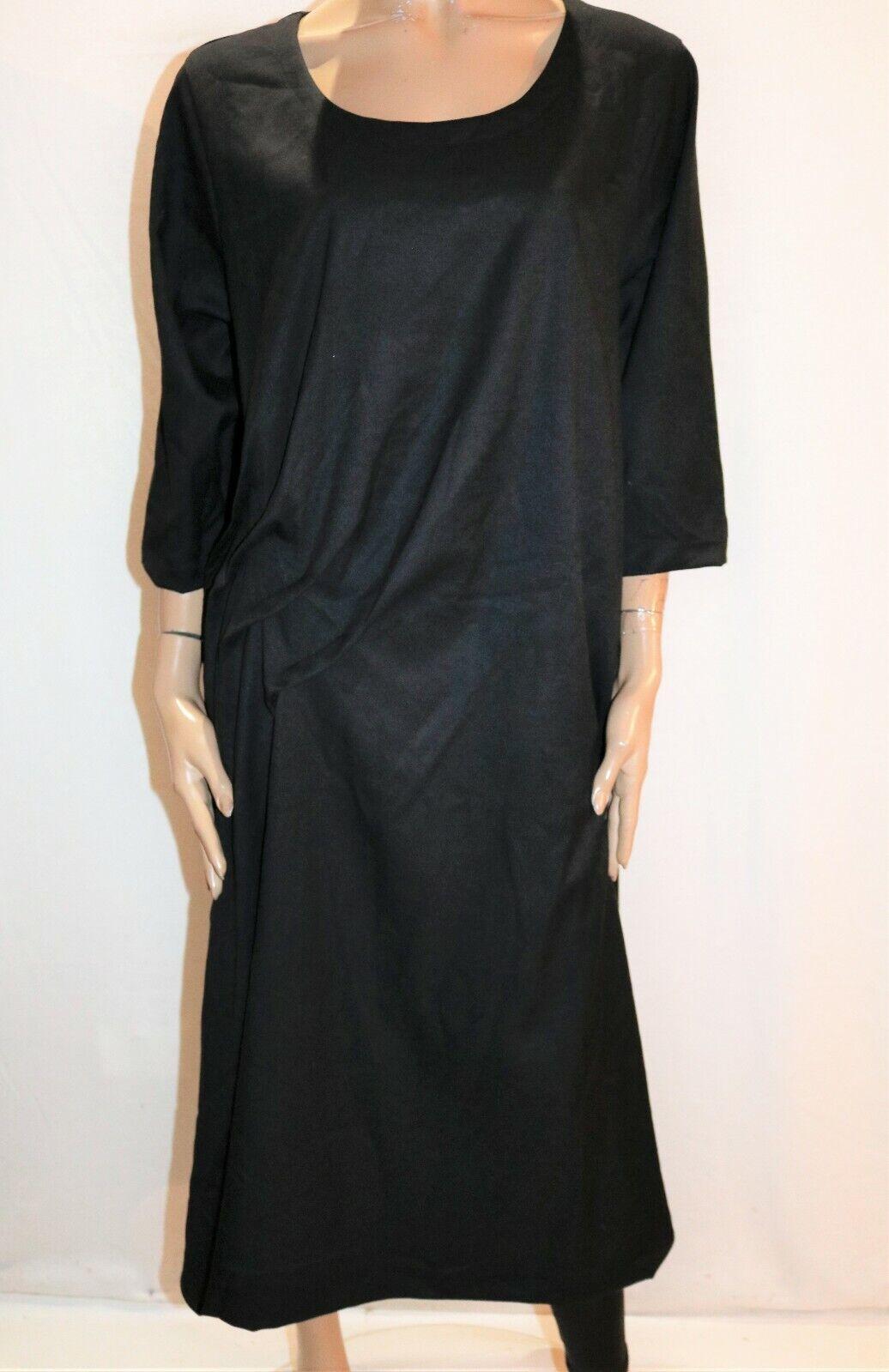 Animale Brand schwarz Pleated Side Short Sleeve Dress Größe 42 BNWT  TH100
