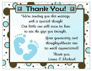 20 Polkadot Baby Feet Baby Shower Thank You Cards Ebay