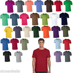 da1f808a 3 Pack Gildan Softstyle Plain Mens T Shirt 100% Cotton 30 Colours ...
