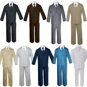 5pc-Baby-Toddler-Boy-Formal-Suit-Black-Brown-Gray-Khaki-Green-White-Taupe-Sm-20
