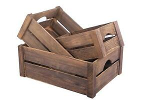 Brown Wooden Apple Crates Retail Display Shelf Box Storage Christmas Gift Hamper