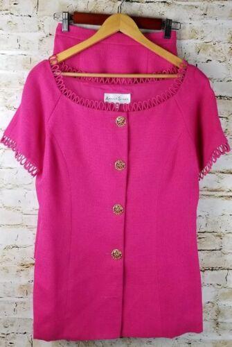 Vintage Arnold Scaasi Couture Womens SZ 8 Pink Li… - image 1