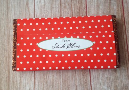 X1 PERSONALISED LARGE CHRISTMAS CHOCOLATE BAR WRAPPER naughty or nice list