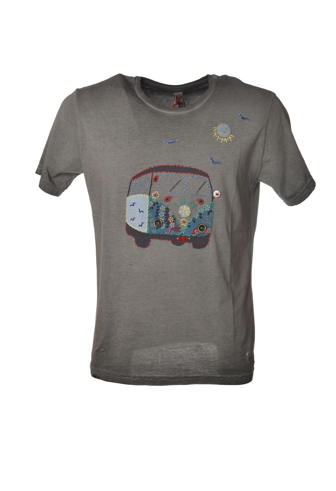 Bob - Topwear-T-shirts - Uomo - Grigio - 6163628C191919
