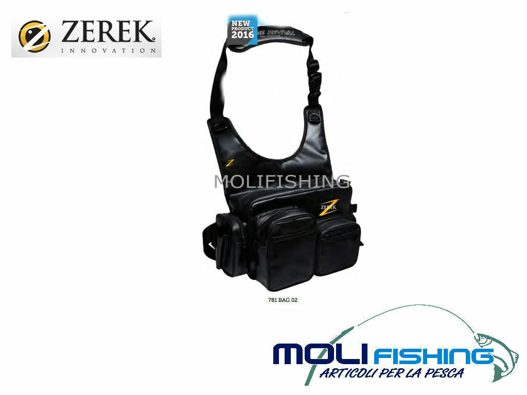 CARRYING BAG FISHING ACCESSORIES ZEREK WITH SHOULDER STRAP+ BELT WATERPROOF NEW