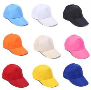 d195744f040 Unisex Men Women Blank Baseball Cap Plain Bboy Snapback Hats Hip-Hop ...