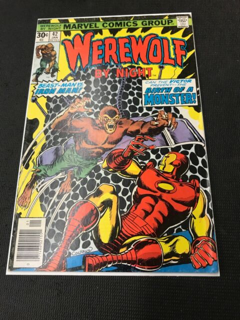 werewolf by night 42 Vs Iron Man !! Ungraded Book Combine Shipping