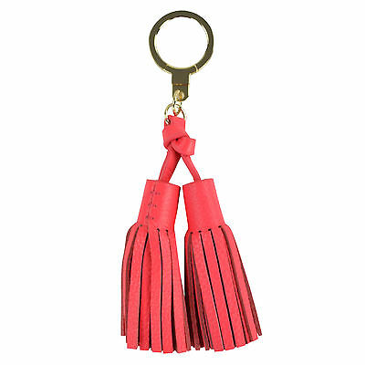 NWT Kate Spade Key Fobs Double Leather Tassel 1KRU0244 in Crabred $68