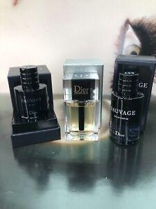 NIB Dior SAUVAGE ELIXIR 7.5ml ~ EAU DE PARFUM 10ml ~ DIOR HOMME Toilette 10ml