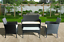 thumbnail 5 - GARDEN FURNITURE SET 4 PIECE RATTAN With SOFA TABLE & CHAIRS OUTDOOR PATIO SET
