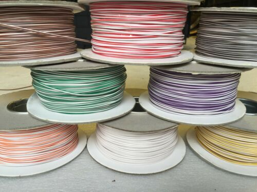 3m 5m 7m of 1mm² 16.5A 12v cable wire wiring loom 83 COLOURS AVAILABLE *