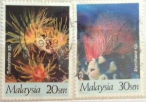 Malaysia Used Stamp -  2 pcs 1997 Year of The Reef