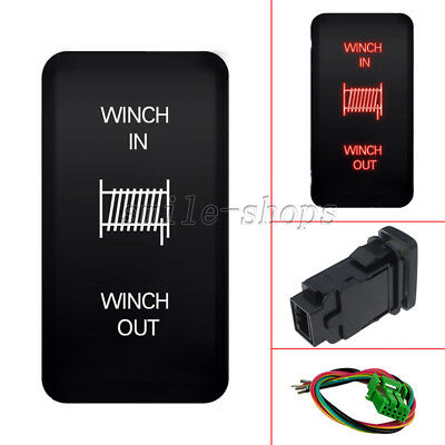 OUT Orange LED Light Push Switch For Toyota 4Runner Tocoma 40mm*20mm WINCH IN