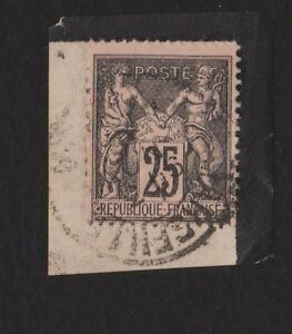 FRANCE-Peace-amp-Commerce-25c-Used