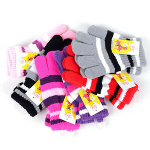 Children-Girls-Boys-Kids-Magic-Stretchy-Mittens-Knitted-Gloves-Winter-Warmer-New