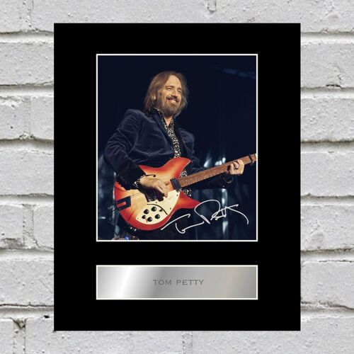 Tom Petty Signed Mounted Photo Display #2