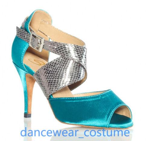 Ballroom Latin Tango Salsa Dance Shoes Ladies Waltz Party Heels Sandals EU 34-42