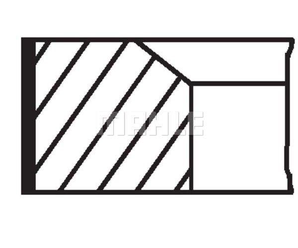 MAHLE ORIGINAL Piston Ring Kit 081 21 N0