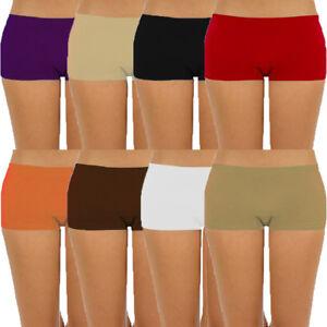 Womens-Seamless-Stretch-Shorts-Spandex-Workout-Mini-Safety-Bike-Dance-OS-S-M-L