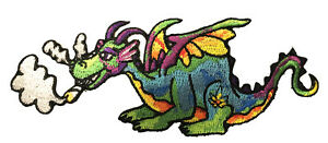 Pot Smoking Pals Magical Dragon Iron On Patch