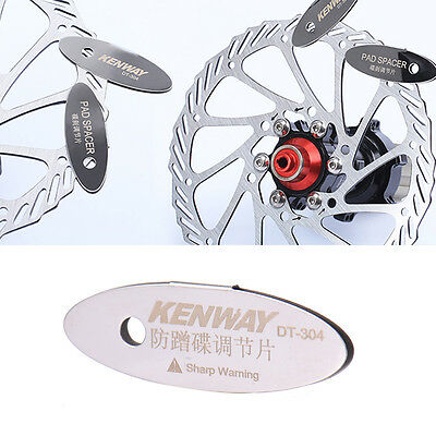 Adjusting Bike Bicycle Disc Brake Pads Spacer Tool Mounting Assistant Rotor WU