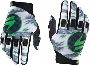 Shift Assault Gloves Black Green Motorcycle Race  MX ATV Offroad Gloves 11458-15