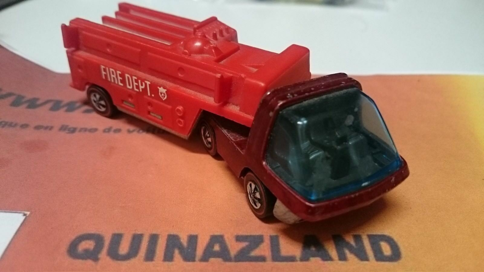Hot Wheels rougeline Heavyweights Fire Engine version intérieur noir  (B14)