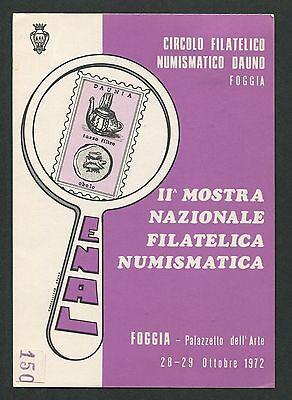 Gastfreundlich Italien Mostra Filatelica Foggia 1972 Cartolina Ausstellung Sonderkarte C9450 Fein Verarbeitet