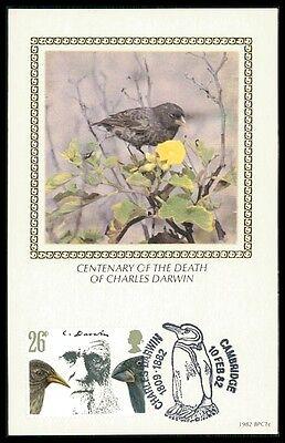 Slim Gb Uk Mk Charles Darwin Finken Fink VÖgel Birds Carte Maximum Card Mc Ba96