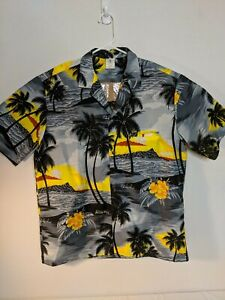 Hawaiian-Shirt-Men-039-s-Large-Royal-Creations-Authentic-Scenes-of-the-Islands