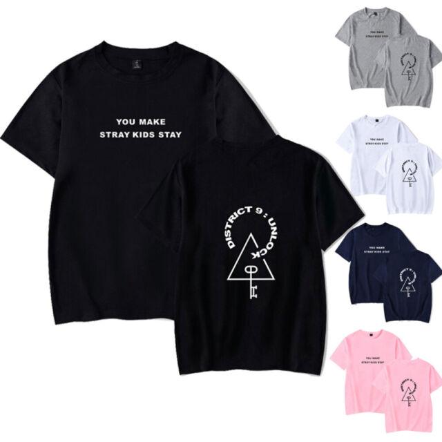 Kpop Stray Kids T-shirt Logo Stray Kids Kpop Idol Unisex Gift Kpop Fan TREND!