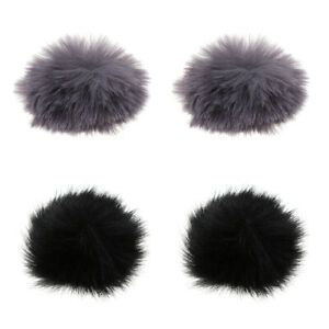 4Pcs-Fur-Microphone-Windscreen-Windshield-Muff-Reduce-Wind-Noise-Mic-Cover
