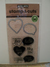 HERO ARTS STAMP & CUTS CUTE YES CLEAR STAMPS WITH MATCHING DIE-CUTS *LOOK*