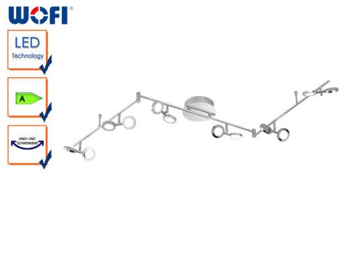 Acryl Wohnzimmerleuchte Chrom poliert Moderner LED-Deckenstrahler 12-flammig